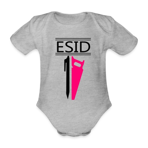 ESID Zwart-roze - Baby bio-rompertje met korte mouwen