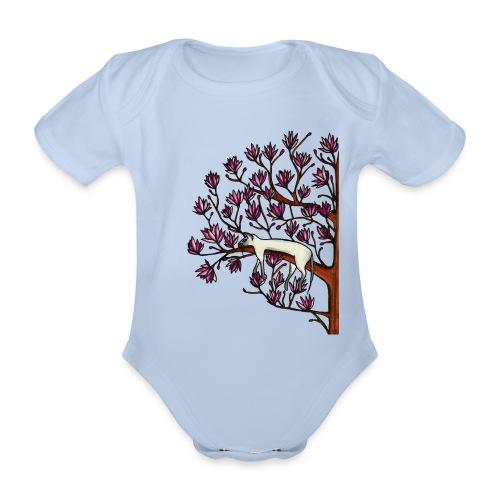 Magnolia - Ekologisk kortärmad babybody
