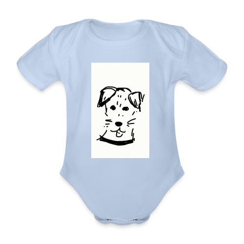 piesek - Ekologiczne body niemowlęce z krótkim rękawem