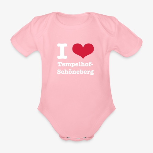 I love Tempelhof-Schöneberg - Baby Bio-Kurzarm-Body