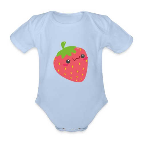 Erdbeere - Baby Bio-Kurzarm-Body
