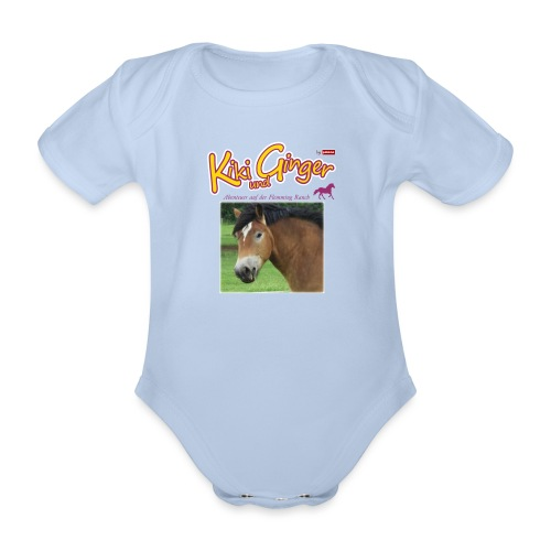 patame Kiki und Ginger mit Golden Sky weiss - Baby Bio-Kurzarm-Body