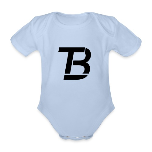 brtblack - Organic Short-sleeved Baby Bodysuit