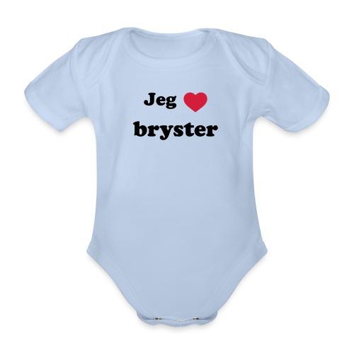 elsker bryster - Kortærmet babybody, økologisk bomuld