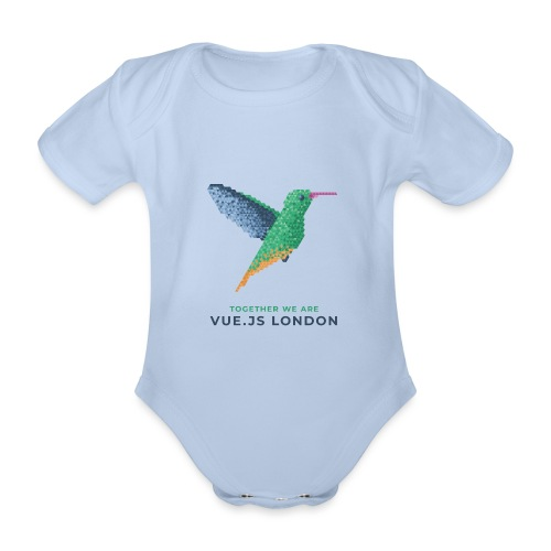Hummingbird - Together we are Vue.js London - Organic Short-sleeved Baby Bodysuit