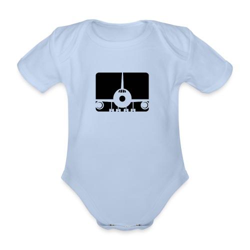 Flugzeug - Baby Bio-Kurzarm-Body