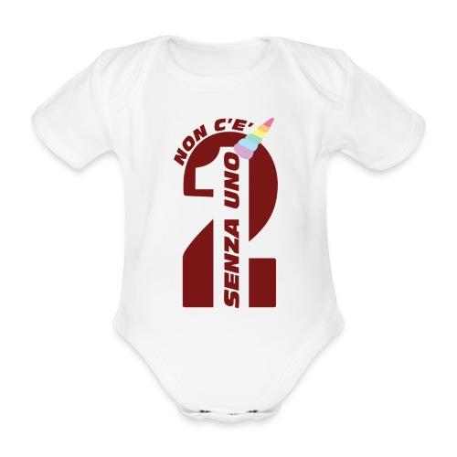 Logo nonceduesenzauno - Body ecologico per neonato a manica corta
