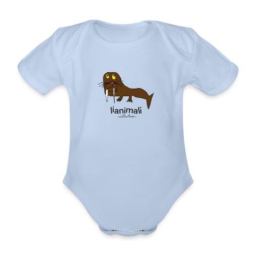 tricheco dentato - Organic Short-sleeved Baby Bodysuit