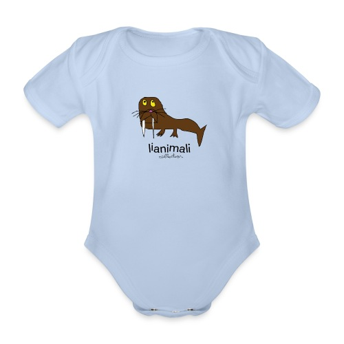 tricheco dentato - Organic Short-sleeved Baby Bodysuit