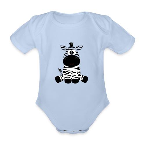 Zebra - Baby bio-rompertje met korte mouwen