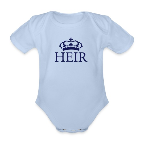 Gin O'Clock Heir Baby Vest - Gold Print - Organic Short-sleeved Baby Bodysuit