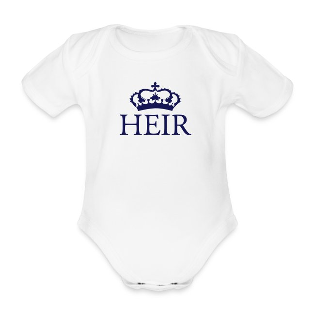 Gin O'Clock Heir Baby Vest - Gold Print