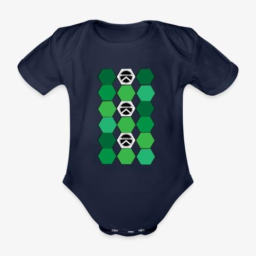 |K·CLOTHES| HEXAGON ESSENCE GREENS & WHITE - Body orgánico de maga corta para bebé