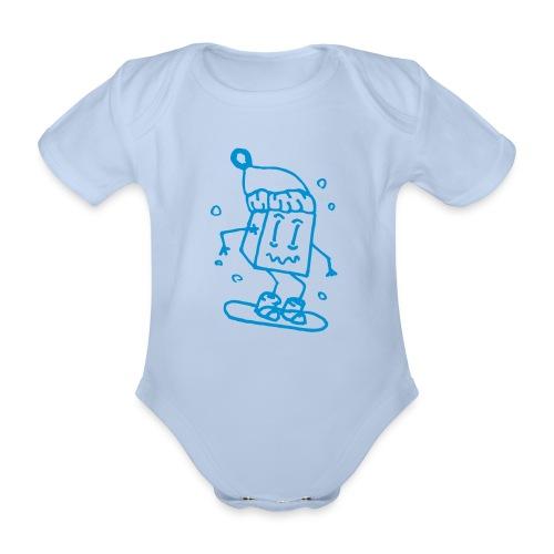 snowboarding - Organic Short-sleeved Baby Bodysuit