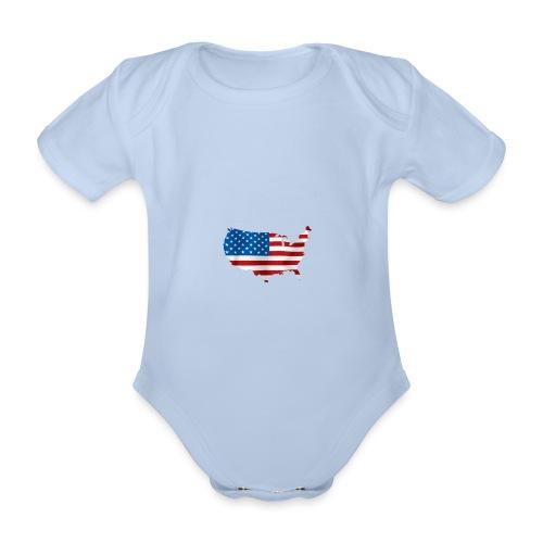 AMERICAN - Body Bébé bio manches courtes