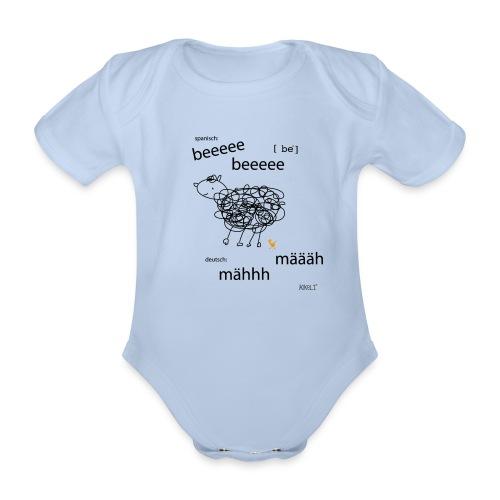 Tierlaut zweisprachig - Baby Bio-Kurzarm-Body