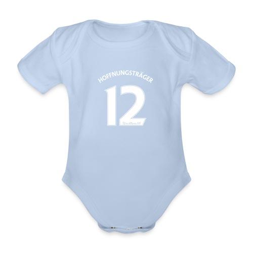 Rückennummer 12, weiß - Baby Bio-Kurzarm-Body