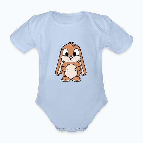 Lily Bunny - Appelsin - Ekologisk kortärmad babybody