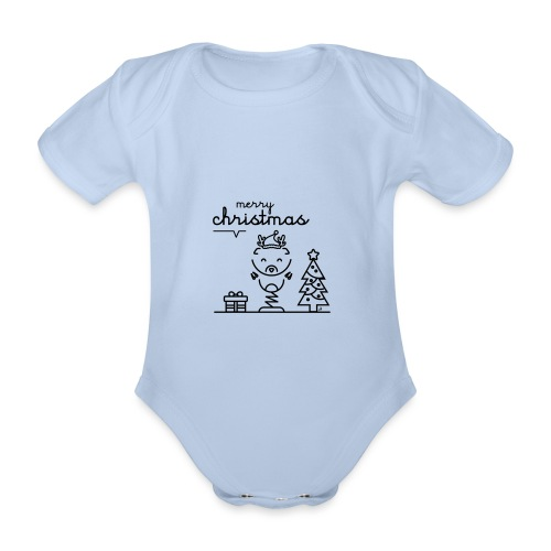 Noël reindeer 2 - Body Bébé bio manches courtes