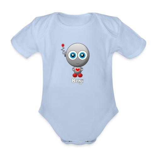 Benji - Baby bio-rompertje met korte mouwen