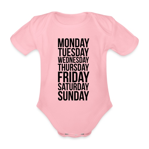 Days of the Week - Organic Short-sleeved Baby Bodysuit