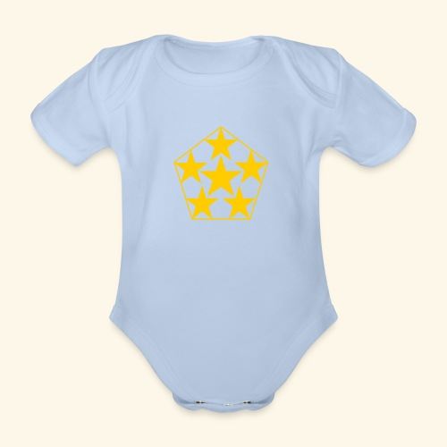 5 STAR gelb - Baby Bio-Kurzarm-Body