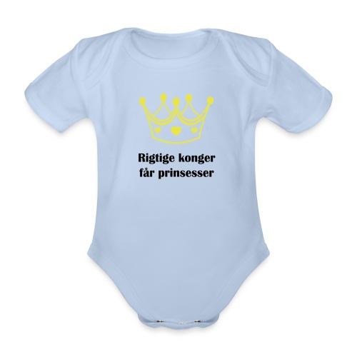 konger - Kortærmet babybody, økologisk bomuld