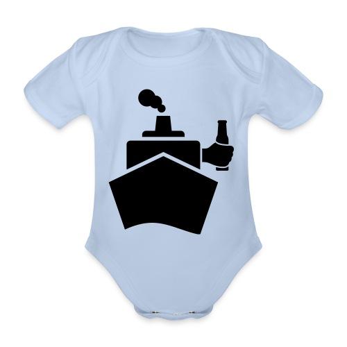 King of the boat - Baby Bio-Kurzarm-Body