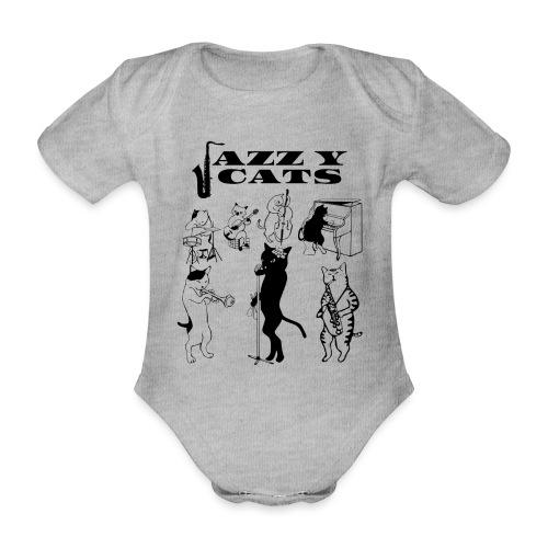 jazzy cats - Body Bébé bio manches courtes