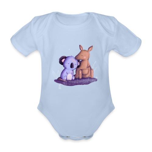 Koala und Känguru - Baby Bio-Kurzarm-Body