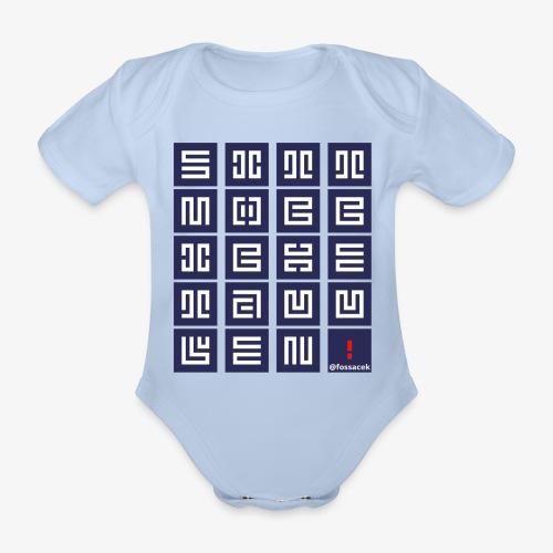 SittMocciche - Body ecologico per neonato a manica corta