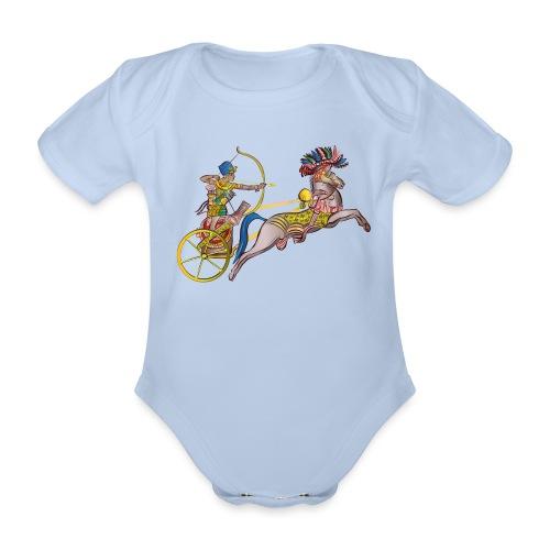 Pharao mit Streitwagen - Baby Bio-Kurzarm-Body