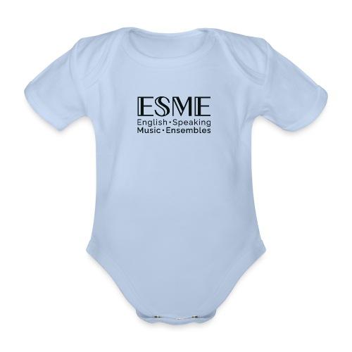 ESME Logo Schwartz - Baby Bio-Kurzarm-Body
