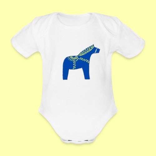 Dala by Pinni Art® blue - Baby Bio-Kurzarm-Body