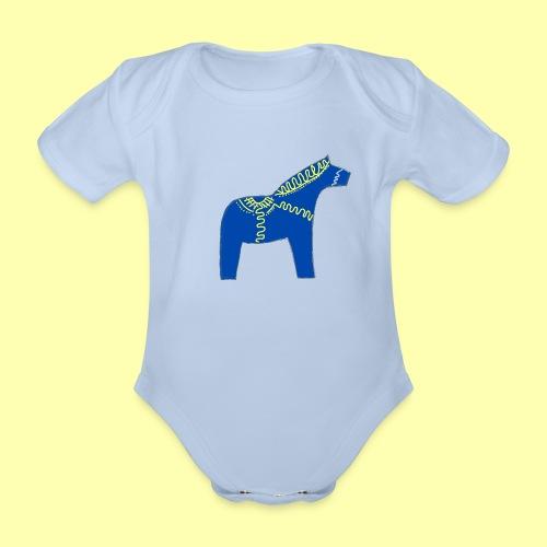 Dala by Pinni Art® blue - Baby Bio-Kurzarm-Body