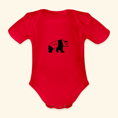 Panda - Baby Bio-Kurzarm-Body