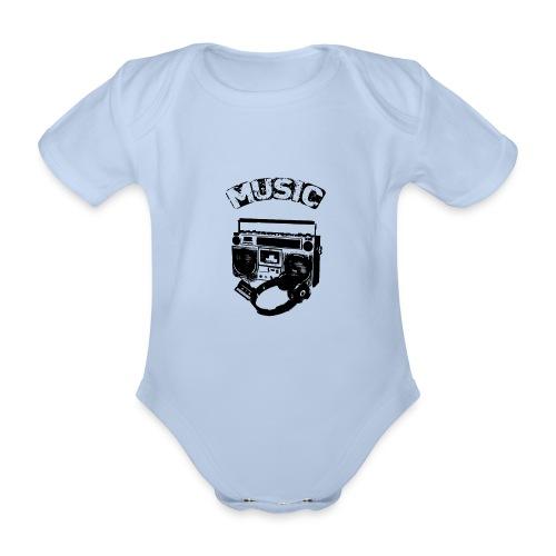 musik1 - Kortærmet babybody, økologisk bomuld