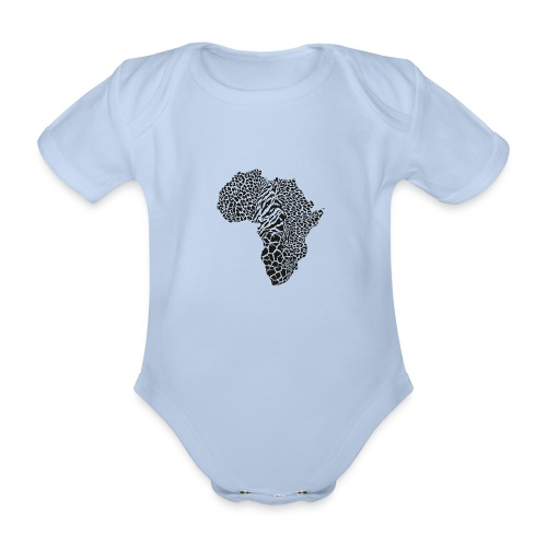 Africa in a animal camouflage - Baby Bio-Kurzarm-Body