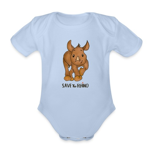 Save the Rhino - Organic Short-sleeved Baby Bodysuit