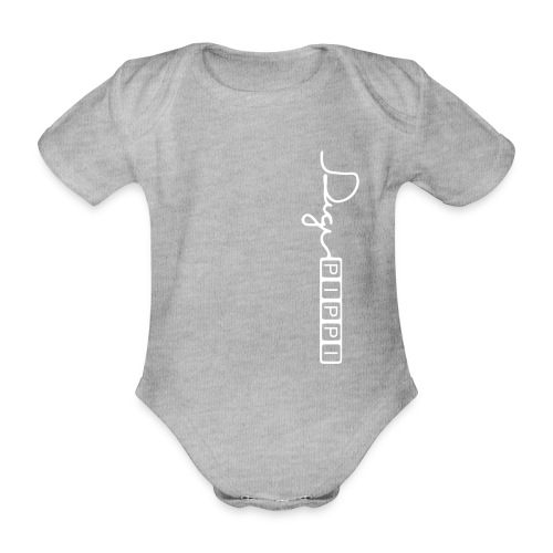 DP Logo White - Kortærmet babybody, økologisk bomuld