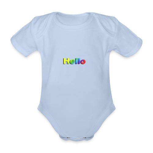 Hello - Ekologiczne body niemowlęce z krótkim rękawem
