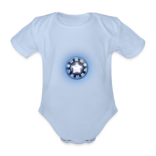 arc reactor - Organic Short-sleeved Baby Bodysuit