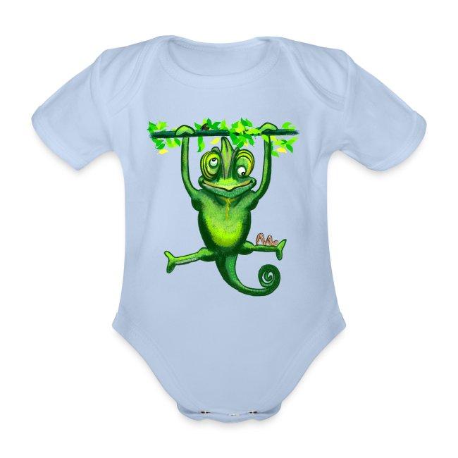 Hunting green chameleon print / design