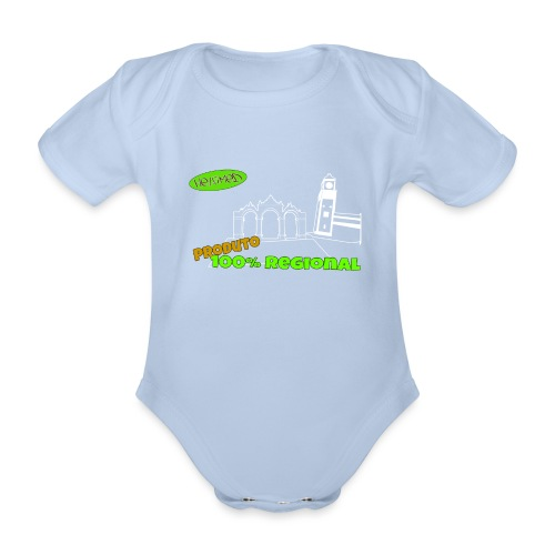Dark City Gates - Organic Short-sleeved Baby Bodysuit