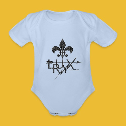 Luxry (Faded Black) - Organic Short-sleeved Baby Bodysuit