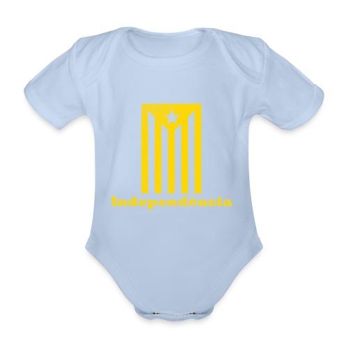 Independència - Body orgánico de maga corta para bebé