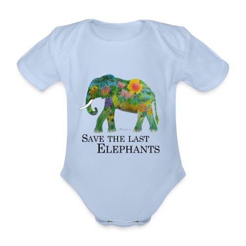 Save The Last Elephants - Baby Bio-Kurzarm-Body