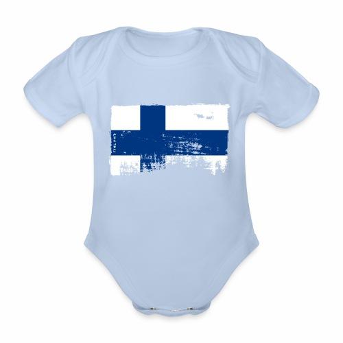 Suomen lippu, Finnish flag T-shirts 151 Products - Vauvan lyhythihainen luomu-body
