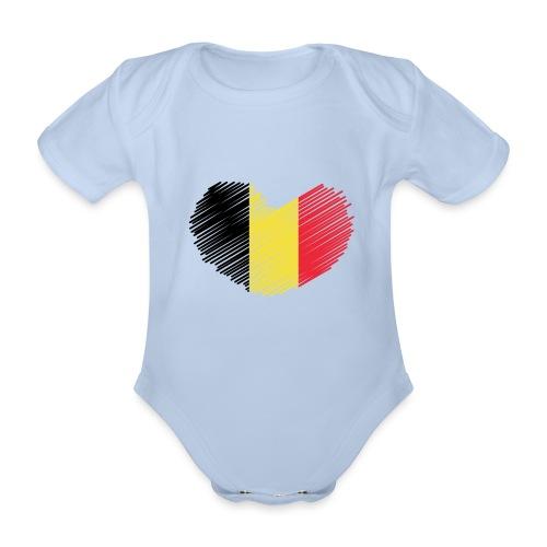I LOVE BELGIUM - Body Bébé bio manches courtes