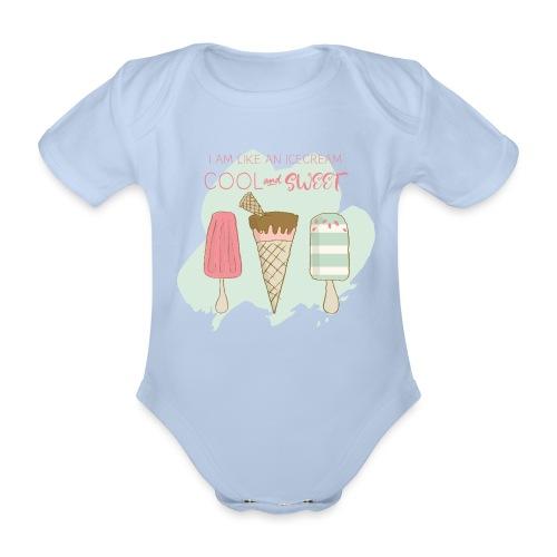 Icecream pistachio - Organic Short-sleeved Baby Bodysuit